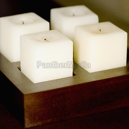 candles on a candlestick holder