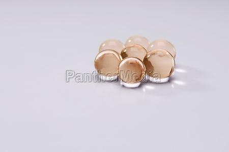 closeup of bath beads