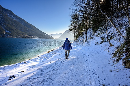 a winter walk on the achensee