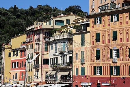 famous portofino village on ligurian coast