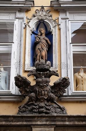 imperial eagle emblem in graz styria
