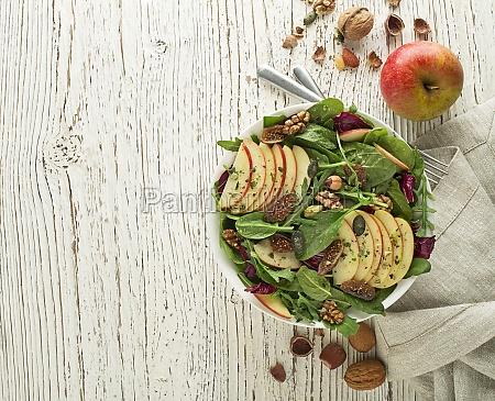 green salad fruit