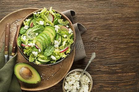 green salad avocado