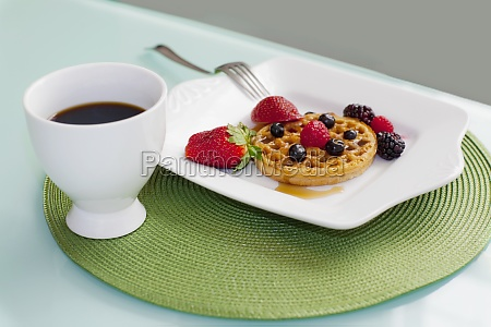 high angle view of strawberries with