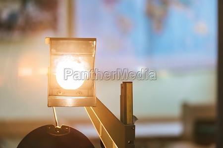 schooling concept retro overhead projector in