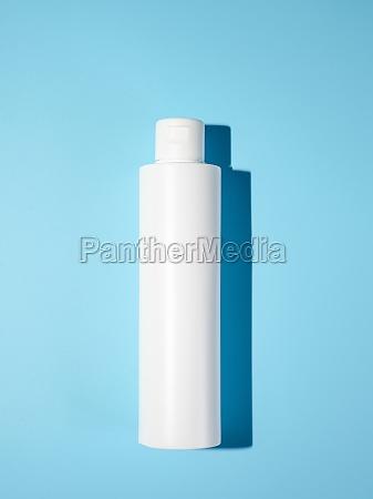 empty white plastic opaque bottle mockup