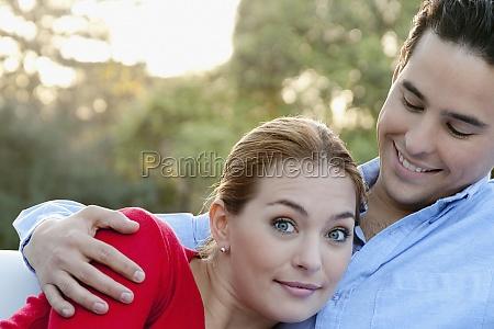 closeup of a romantic couple