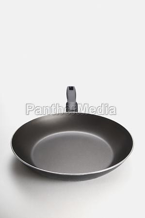 closeup of a frying pan