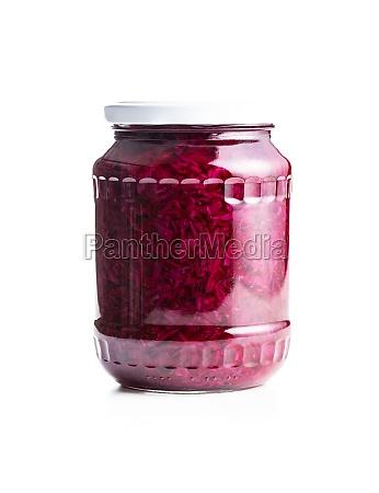 red sauerkraut sour pickled cabbage