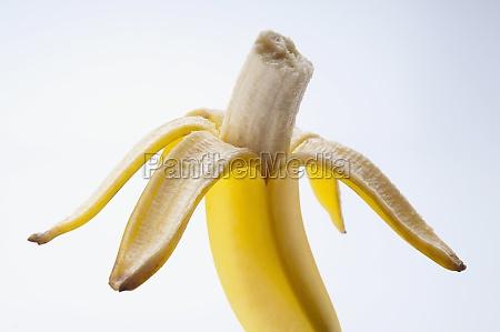closeup of an eaten banana