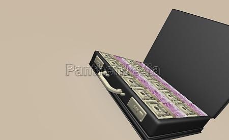 american dollar bills and euro bank