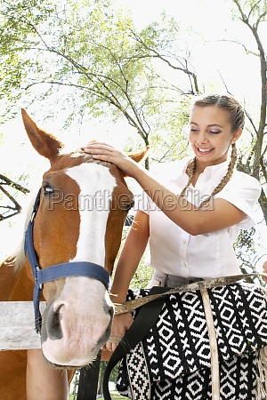 woman with a horse at a