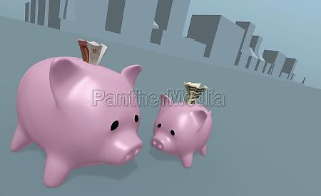 two piggy banks