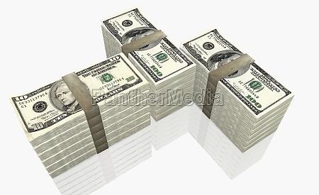 american ten dollar bills and one