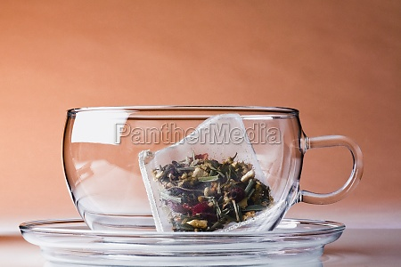 herbal teabag in a cup