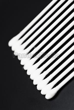 closeup of cotton swabs