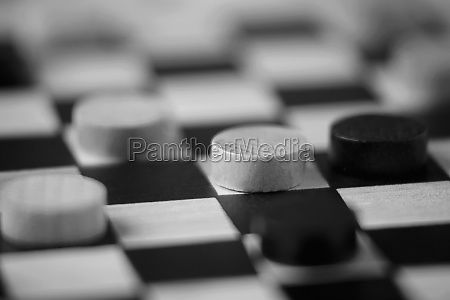 closeup of chinese checkers on a