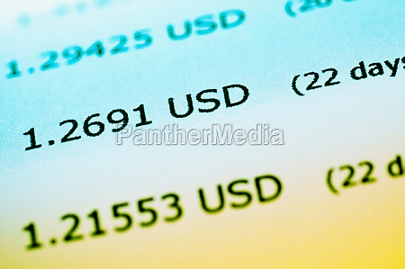 closeup of financial figures on a