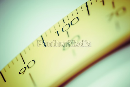 closeup of a ruler