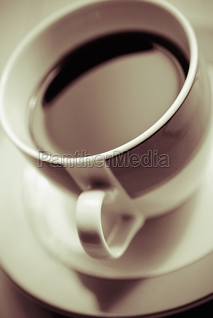 closeup of a coffee cup with