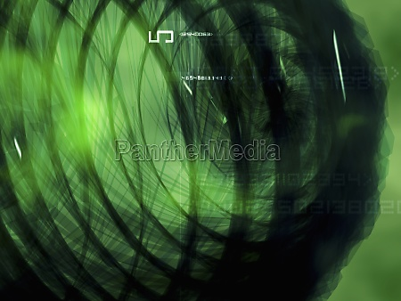 spiral pattern on a green background