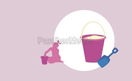 pail and a shovel