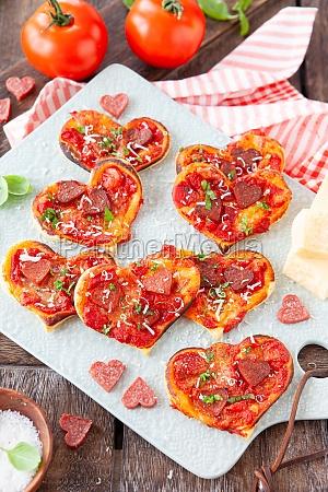 little heart shaped pizza
