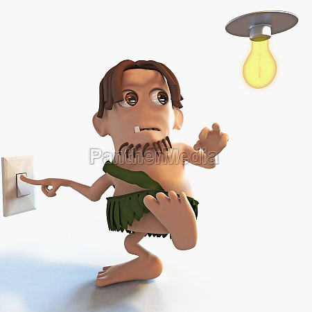 man switch off a light bulb