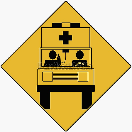 two people sitting in an ambulance