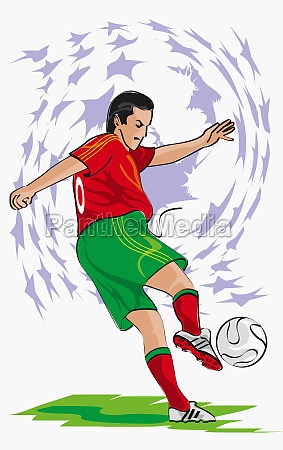 side profile of a soccer player