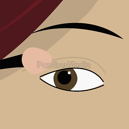 womanZs eye