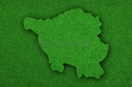 map of saarland on green felt