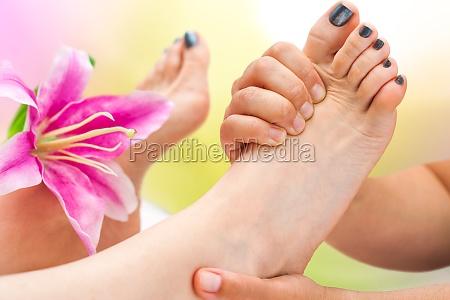 extreme close up foot massage