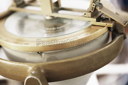 close up of a navigational equipment