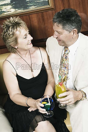 mature woman with a senior man