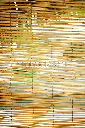 close up of bamboo blinds