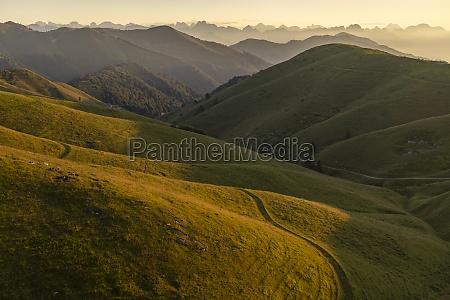 summer landscape near monte grappa northern