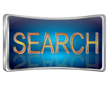 search button blue 3d illustration