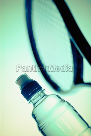 closeup of a water bottle and