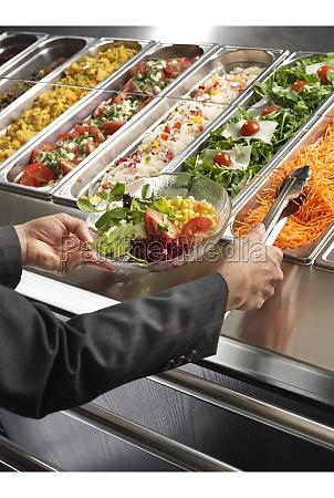 salad buffet self service
