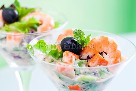 macro close up of prawn and