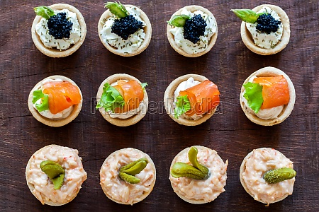 top view of multiple mini pastry