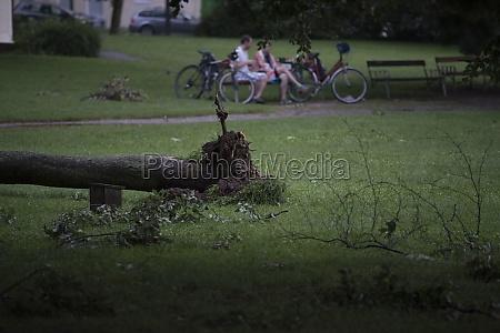 storm damages after a severe storm