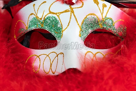 carnival mask 1 red background