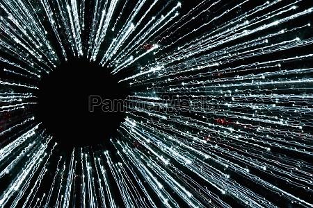 closeup of fiber optic cables