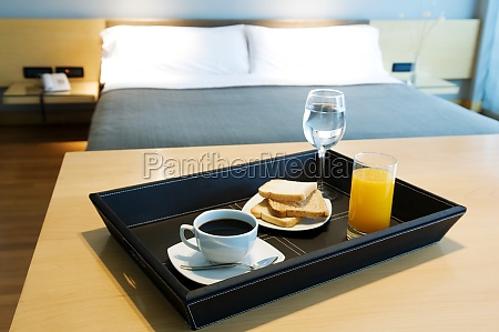 breakfast tray on a table