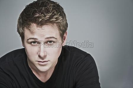 closeup of a man staring
