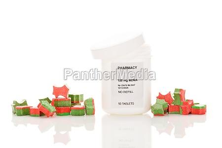 medical mdma ecstasy in perscription bottle
