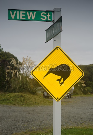 caution signal by the kiwi presence