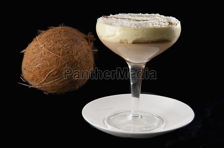 closeup of coconut mousse